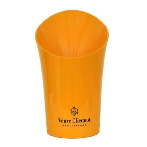 "VEUVE CLICQUOT CHAMPAGNE 15"" ORANGE ACRYLIC ICE BUCKET MAGNUM NEW"