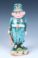 Palmer Cox Brownie Policeman Candle Holder Figurine Antique Majolica Pottery