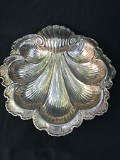 Gorham Silver Plated Shell Serving Platter Victorian Style