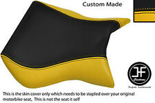 BLACK AND YELLOW VINYL CUSTOM FITS CAGIVA MITO 125 95-07 FRONT SEAT COVER ONLY