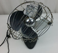 Vintage Montgomery Ward Metal Desk Fan 3 amp 60 cy. 115 volt