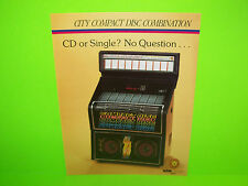 Nsm Lions City Compact Original 1989 Phonograph Music Promo Sales Flyer Adv.