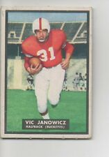 1951 Topps Football Card #10 Vic Janowicz-Ohio State-Rookie Card