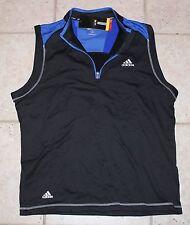 NWT Adidas Mens Medium Climawarm Golf Climalite 1/2 Zip Pullover Vest