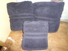 VINTAGE RALPH LAUREN BASIC VERY DARK BLUE (3PC) HAND &  BATH TOWEL SET