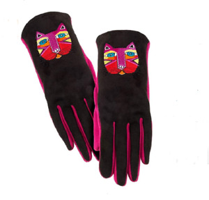 Laurel Burch Embroidered FESTIVE CATS Women's Gloves