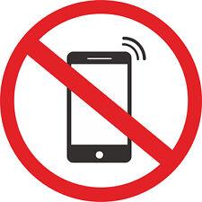 Non di telefoni cellulari Autoadesivo Adesivi AUTO FURGONE CAMION TAXI CAMION