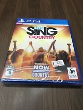 Brand New Let's Sing Country Sony PlayStation 4 PS4 Factory Sealed