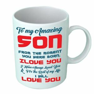 Little Amazing To Always My Son Never Gift Daddy Printed Mug Forget Love Cup
