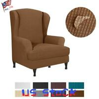Wingback Wing Back Chair Cover Stretch Armchair Slipcover Waterproof Protector