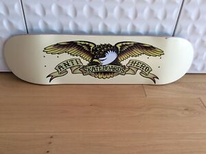 "Anti Hero Skateboard Deck Classic Eagle Cream / lime green 8.62"""