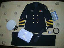 Obsolete 15's series China PLA Navy Man Officer Uniform,Black,Set