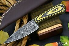 Custom Damascus Steel Hunting Knife Handmade With Spanish Wooden Handle (Z333-C)