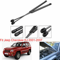 Front Bonnet Gas Boot Struts Hood Lift Support For Jeep Cherokee KJ 2001-2007