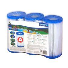 LOT 3 CARTOUCHE EPURATEUR FILTRE FILTRANTE PISCINE type  A  INTEX filtration eau