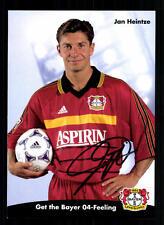 Jan Heintze Autogrammkarte Bayer Leverkusen 1998-99 Original Sign+A 104991