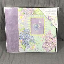 "Brenda Walton Juliana Lilac Purple Scrapbook Album Kit 12X12"" NEW"