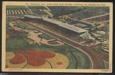Postcard Arcadia Ca Santa Anita Horse Race Track Bird's Eye Aerial view 1930's