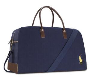 NEW 2021 Ralph Lauren Polo Blue Weekender Gym Travel Duffle Bag