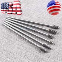 "10mm Rotary Aluminum Cut Burr 6mm 1/4"" Shank 150mm Long Reach Carbide Burs 6pcs"