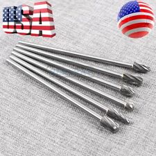 "10mm Rotary Aluminum Cut Burr 6mm 1/4"" Shank 150mm Long Reach Carbide Burs 6pcs"