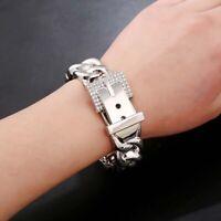 Classic Rhinestones Metal Bracelets Women Alloy Bangle Party Fashion Accessories