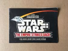 1982 Atari 2600/Sears Star Wars: Empire Strikes Back Instruction Booklet Manual