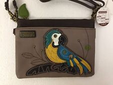 Chala Parrot Blue Bird Gray Mini Crossbody Bag Small Convertible New with Tags