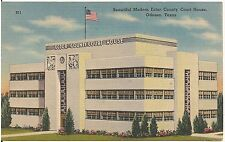 Ector County Court House in Odessa TX Postcard 1945