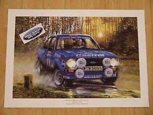 Hannu Mikkola Eaton Yale Escort Rallyart Print mk2 escort rally artwork poster