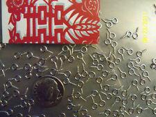 100 Silver Scrabble Tile Eye Screw Bail Findings 8x4mm FAST US SHIPPER! TRY ME!