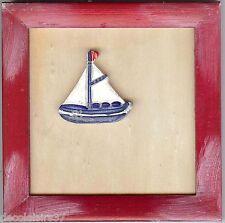 RICO DESIGN  07600  Cadre carré avec Motif Bateau à coller