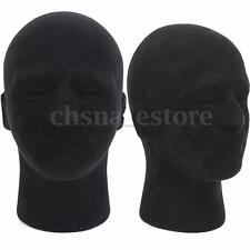 Male Styrofoam Foam Mannequin Manikin Head Model Glass Cap Wigs Display Stand US