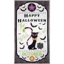 """Fabric Happy Halloween Scarry Cat Door Panel Cotton 24""""x44"""""""