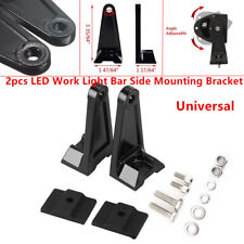 Universal LED Work Light Bar Side Mounting Bracket Aluminum For Car Offroad Pair