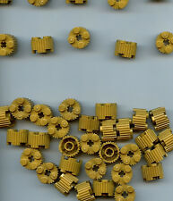 10x LEGO Brick Round 2 x 2 Pearl gold with Grille 92947