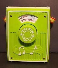 Fisher Price Happy Birthday Music Box Pocket Radio 768 Vintage 1970