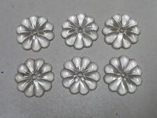6 PAMPILLES MARGUERITES d=2.50cm / 2.60cm POUR LUSTRE -qf