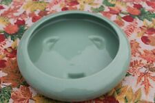 VTG Glazed Ceramic Round Low Bowl Shallow Footed Planter Green Succulent Bonsai