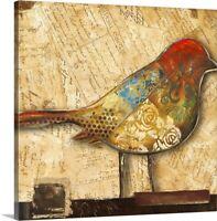 Bird of Collage II Canvas Wall Art Print, Bird Home Decor