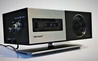 Sharp FXC-34 Flip/Roll Alarm Clock Radio AM/FM MCM Vintage Modern 1970