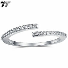 Cubic Zirconia Yellow Gold Plated Band Stone Fashion Rings