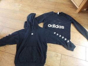 LADIESD ADIDAS TRACKSUIT TOP JUMPER SIZE 8