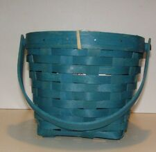 Longaberger 7 inch measuring basket in teal with after market prot - on hand