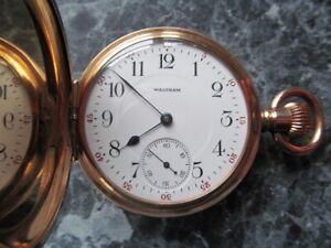 Waltham Riverside Hunter Pocket Watch c1900