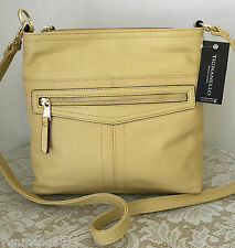 NWT TIGNANELLO pretty pockets pale yellow bag purse leather 2-way wear $129