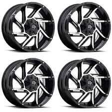 """Set 4 17"""" 6 Lug Vision Prowler Black Wheels Fit Ford Chevy Trucks 6x5.5 6x135"""