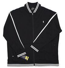 bf306d05 Polo Ralph Lauren Mens Cotton Interlocking Black Baseball Track Jacket 2xlt