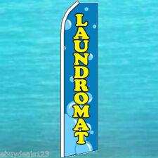 LAUNDROMAT FLUTTER FLAG Laundry Advertising Sign Feather Swooper Banner 25-3076