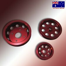JDM Ultra LIGHT-WEIGHT CRANK PULLEY 3-piece Kit for Nissan SILVIA S14 S15 SR20